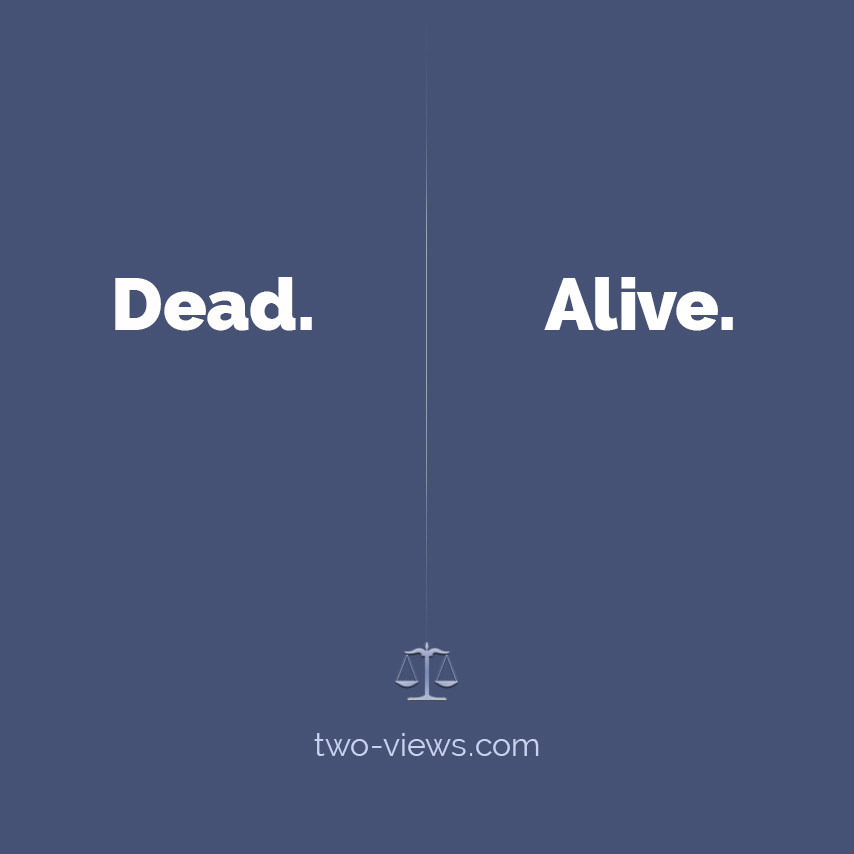 Dead or Alive? Two views