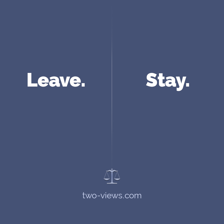 Leave or stay? Two views