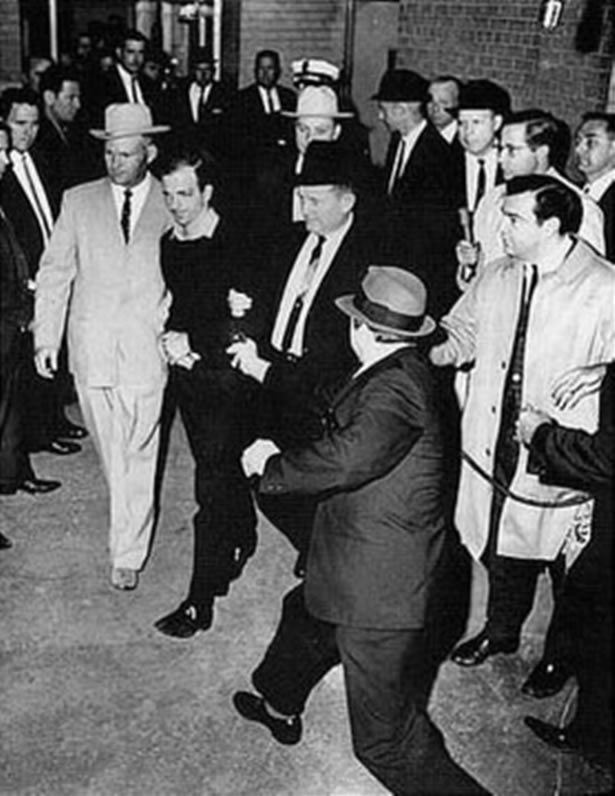 Two views of Jack Ruby shooting Lee Harvey Oswald